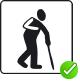 Die Prüfkriterien für 'Ältere, gehbehinderte, herzkranke Personen' wurden erfüllt.