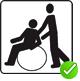 Die Prüfkriterien für 'RollstuhlfahrerInnen mit Unterstützung' wurden erfüllt.