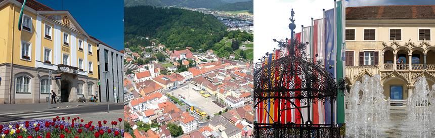 Collage von Fotos aus Bruck an der Mur